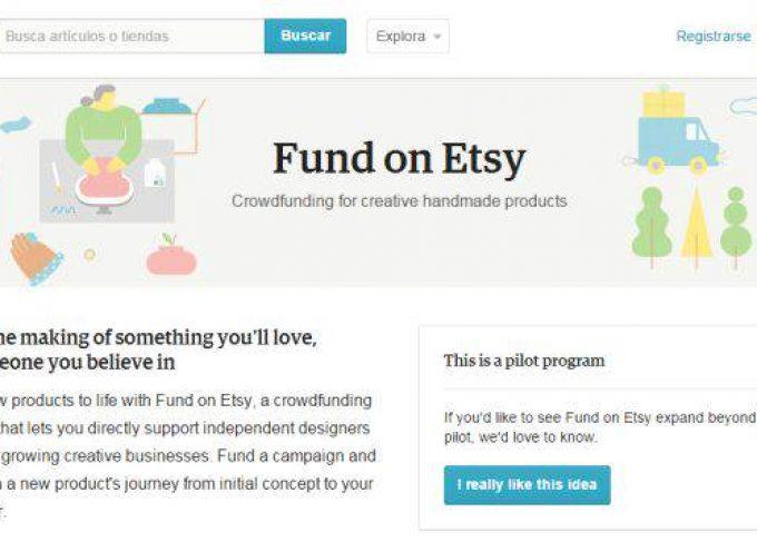 Etsy lanza un programa piloto de crowdfunding