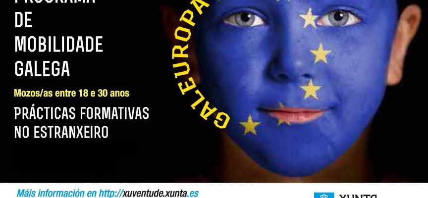 Convocadas 500 prácticas para jóvenes en 31 países europeos. Programa 'Galeuropa'. Galicia