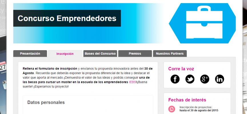 6ª edición del Concurso de Emprendedores de IEBS. Hasta el 30 de agosto.