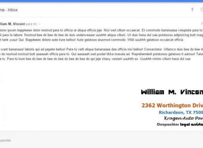 """Cómo activar una firma personalizada y con formato en Inbox, """"el nuevo Gmail"""""""