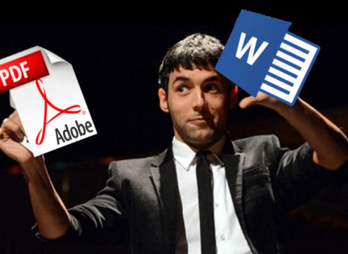 Convertir un PDF en Word fácil y rápido
