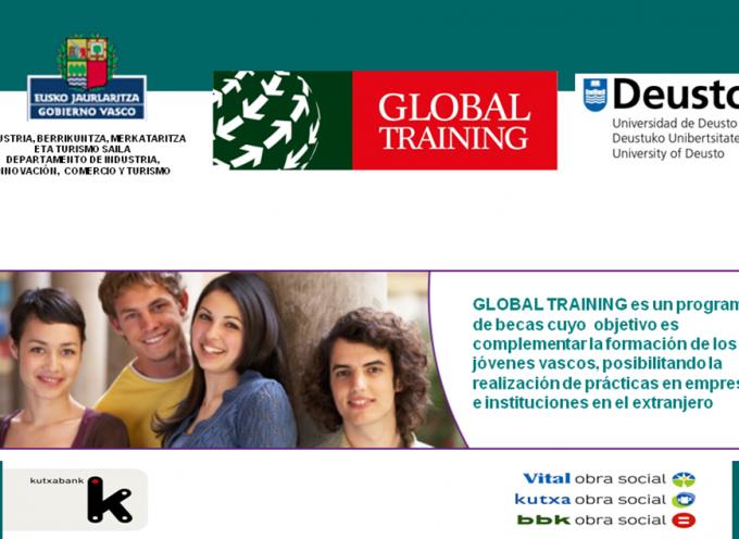 Convocadas 60 becas Prácticas en el Extranjero. Programa Global Training. Hasta el 27 de julio