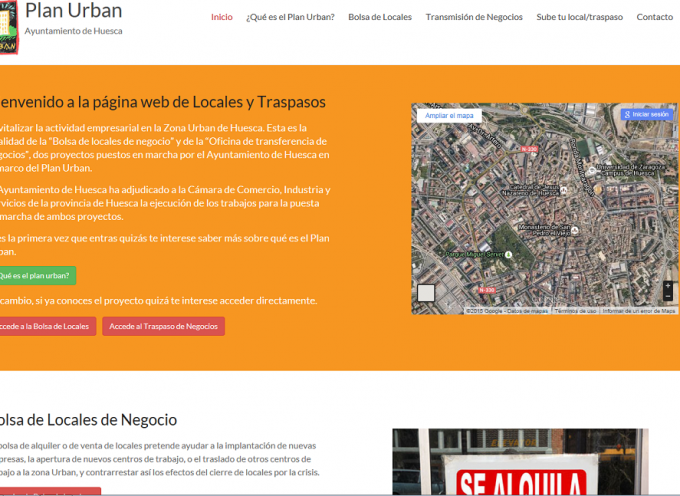 Estrenan en Huesca una web para facilitar locales y la transmisión de negocios
