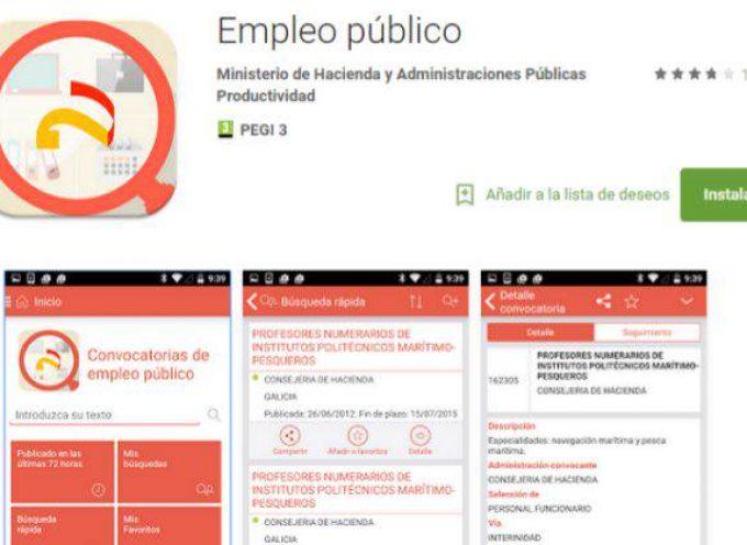 Todas las convocatorias de empleo público, en una app