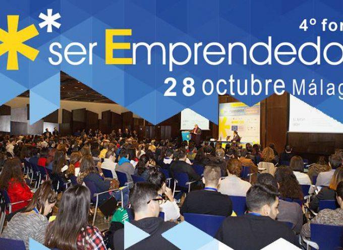 Abierto el plazo de inscripción para el Foro Ser Emprendedor que se celebrará en Málaga el 28 de octubre