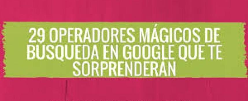 29 operadores de búsqueda mágicos para exprimir Google