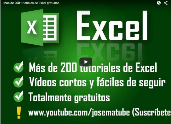 Mas de 200 tutoriales de Excel gratuitos