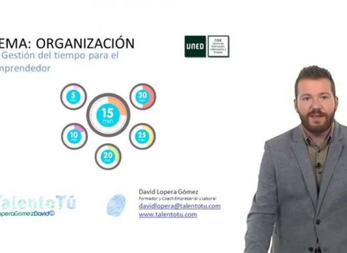 Gestión del tiempo para el emprendedor. David Lopera Gómez. UNED