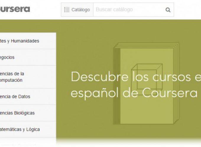 Coursera lanza más de 100 nuevos cursos en español.