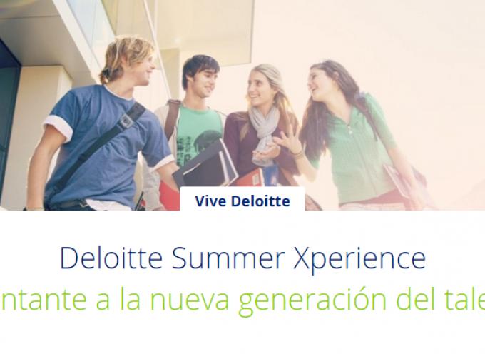 Deloitte Summer Xperience Inscripción hasta completar 100 plazas