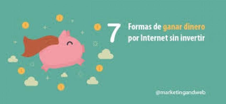 7 FORMAS DE GANAR DINERO POR INTERNET SIN INVERTIR #INFOGRAFIA #INFOGRAPHIC