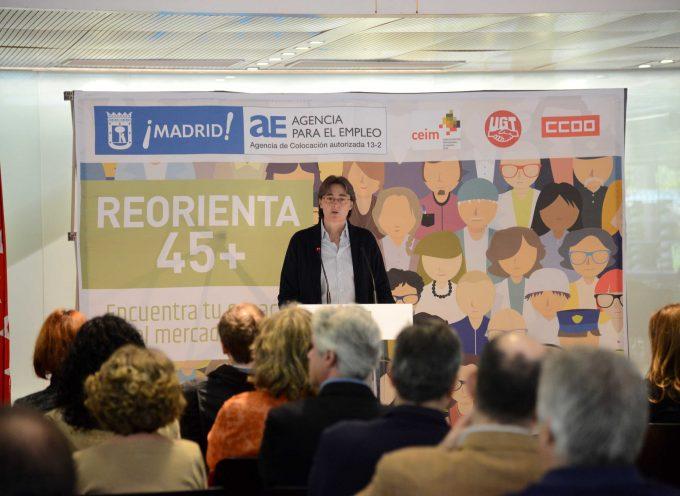 Plan Reorienta 45 + Modelo Integral de Inserción Sociolaboral. (Madrid). Metabuscador de empleo.