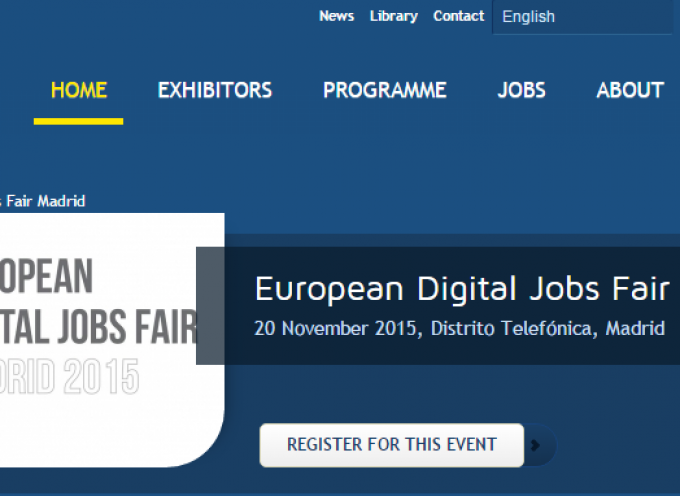 EUROPEAN DIGITAL JOB FAIR MADRID 20 de NOVIEMBRE