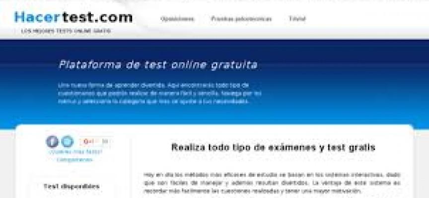 Realiza todo tipo de exámenes y test gratis