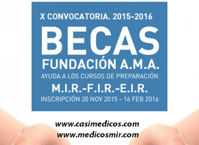 96 Becas Fundación A.M.A. 2015-2016 para diversas especialidades sanitarias