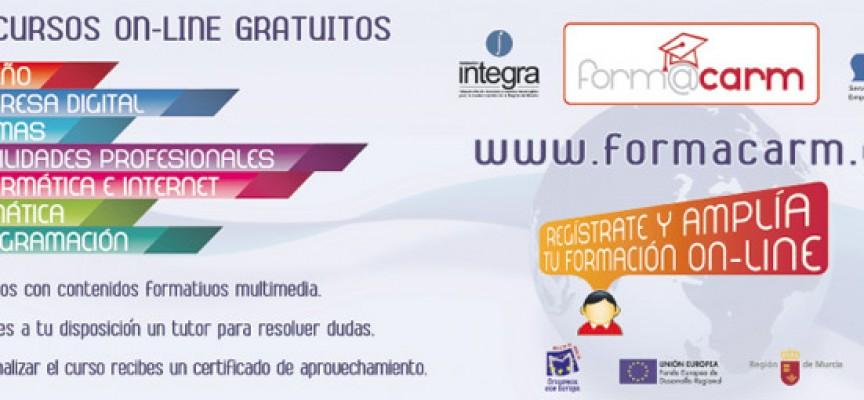 Plataforma de eFormación form@carm. Cursos gratuitos. Región de Murcia