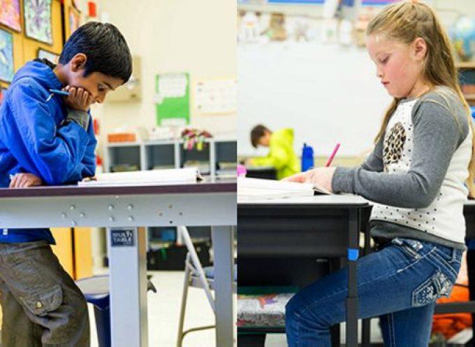 Prevención desde la escuela: los escritorios elevados llegan a las aulas