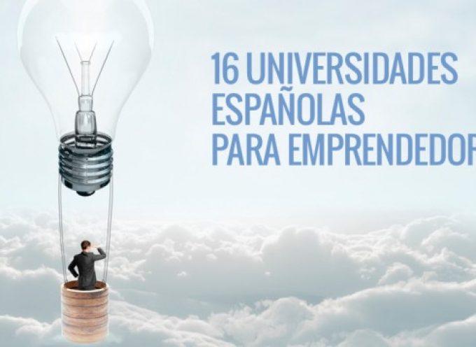 16 universidades españolas para emprendedores