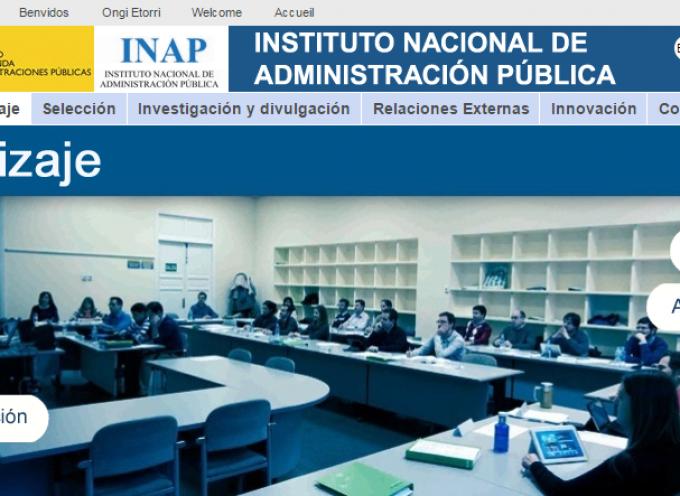 Formación para Empleados Públicos 2016 – INAP (Instituto Nacional de Administraciones Públicas)