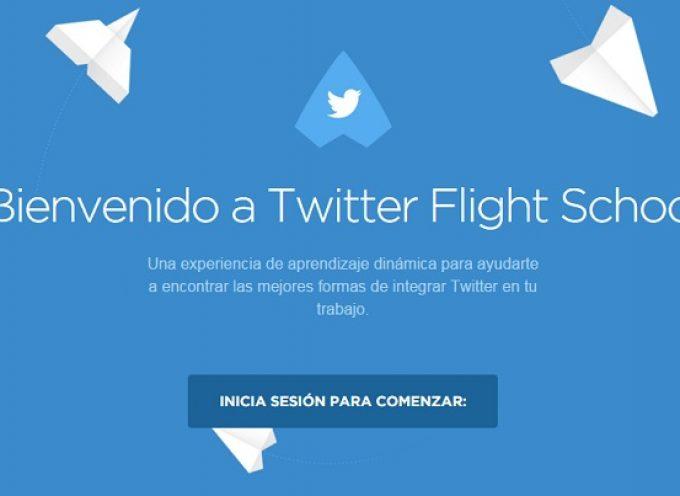 Twitter FlightSchool. Programa formación online abierto a todo el mundo.
