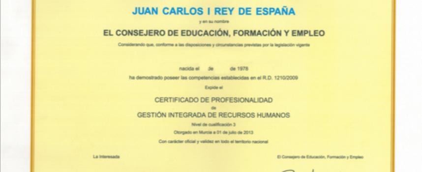 ¿Qué son los certificados de profesionalidad?