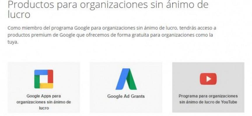 Esto es lo que ofrece Google a las ONGs de forma gratuita