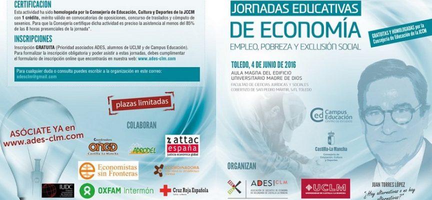 JORNADAS EDUCATIVAS DE ECONOMÍA: EMPLEO, POBREZA Y EXCLUSIÓN SOCIAL Toledo 4 de junio de 2016