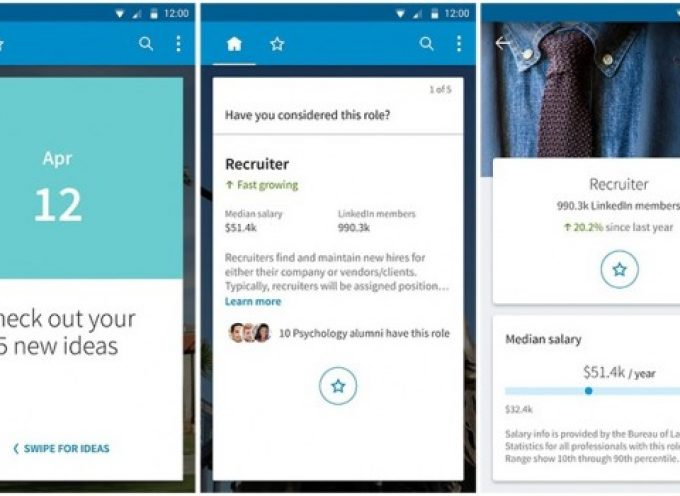 LinkedIn lanza una app para estudiantes