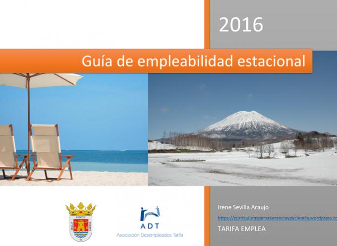 Interesante guía de empleabilidad estacional 2016 con directorio de empresas