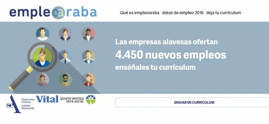 Empresas alavesas ofertan 4.450 nuevos empleos