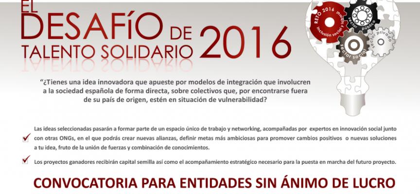 Desafío de Talento Solidario 2016 – Hasta el 13 de Septiembre de 2016