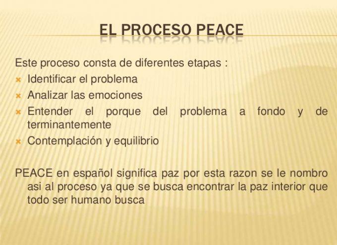 EL PROCESO PEACE O CÓMO ENFRENTARSE A LOS PROBLEMAS CON FILOSOFÍA