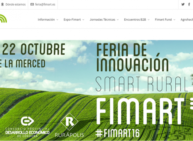 Feria de Innovación Smart Rural. Córdoba 20, 21 y 22 Octubre. #FIMART16