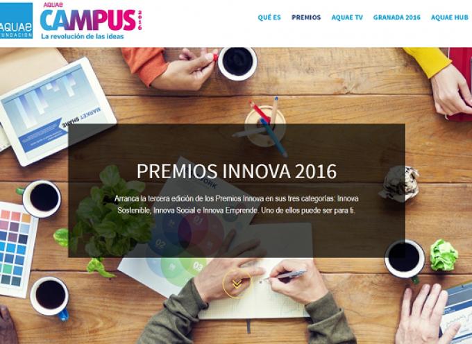 Premio Innova al emprendimiento y la innovación de la Fundación Aquae. Plazo 30/09/2016