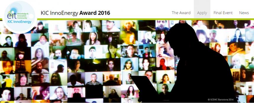 Premio para emprendedores del sector energía sostenible KIC InnoEnergy. Plazo 13/10/2016