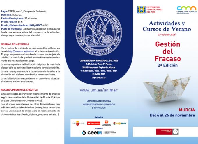 CURSO-TALLER: Gestión del fracaso. 2ª edición. Murcia