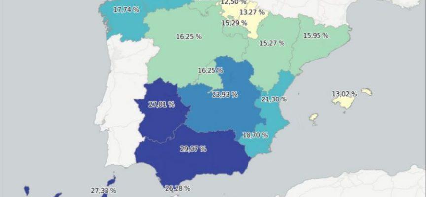 Mapas de la situación laboral en España