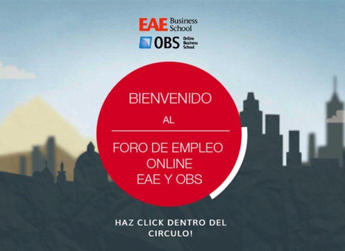 Arranca la sexta edición del Foro de Empleo Online de EAE. Del 4 al 10 de octubre 2016