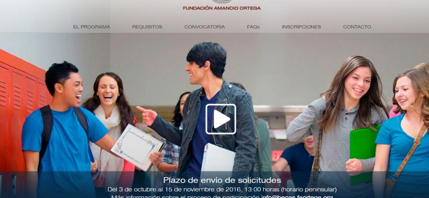 420 Becas de la Fundación Amancio Ortega para estudiar Primero de Bachillerato en Canadá y Estados Unidos. Plazo 15/11/2016