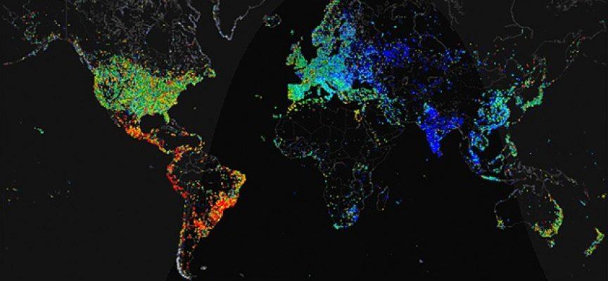 Mapa mundial de la densidad de población