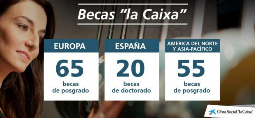 "197 Becas para realizar estudios de posgrado ""Obra Social la Caixa"""