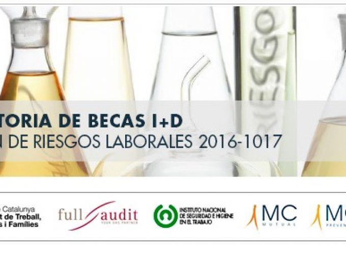 XI BECAS I+D EN PREVENCIÓN DE RIESGOS LABORALES @FPrevent – Plazo 20/03/2017
