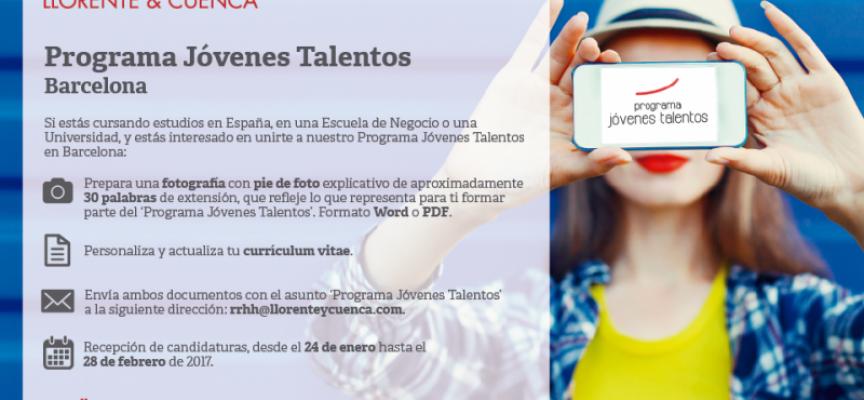 Nueva edición del 'Programa Jóvenes Talentos' en Barcelona – Plazo 28/02/2017