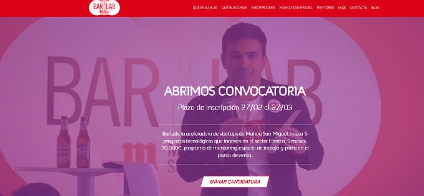 Mahou San Miguel busca ya startups para la segunda edición de la aceleradora 'BarLab' – Plazo 27/03/2017