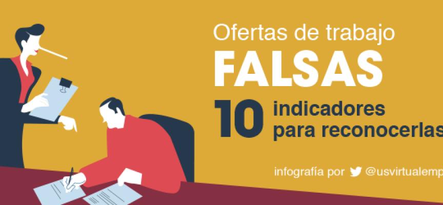 10 pistas de que una oferta de trabajo es falsa
