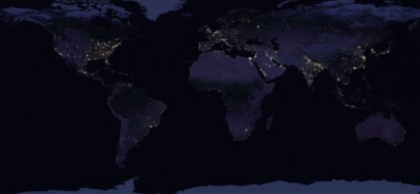 Mapa nocturno de la Tierra 2016