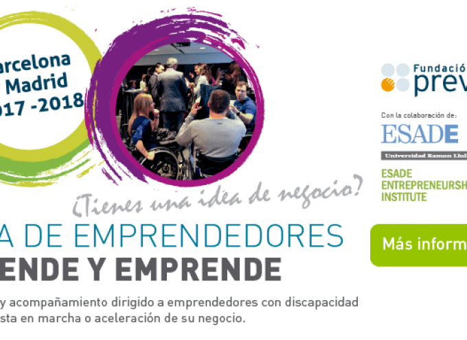 El Aula de Emprendedores de Fundación Prevent y Esade becan seis proyectos de emprendedores con discapacidad