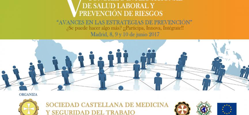 8, 9 y 10 junio: V Congreso Internacional De Salud Laboral y Prevención De Riesgos