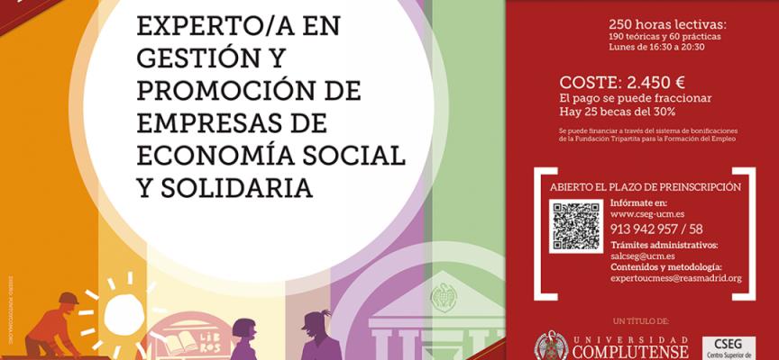 EXPERTA/O EN GESTIÓN Y PROMOCIÓN DE EMPRESAS DE ECONOMÍA SOCIAL Y SOLIDARIA