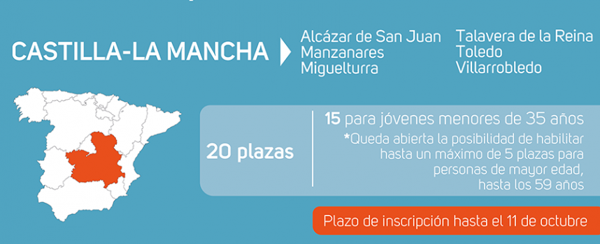 Castilla-La Mancha contará con 6 nuevas Lanzaderas de Empleo – Plazo inscripción 11 octubre 2017